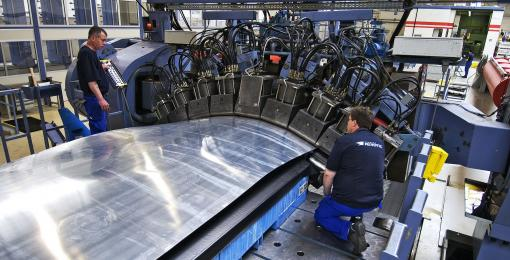 Sheet Stretch Forming Press Acb An Aries Alliance Company