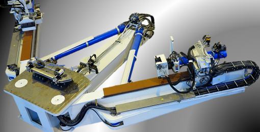 Swing arm profile stretch forming press (FEV&V)